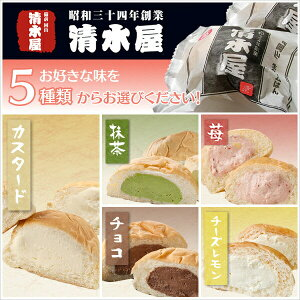 【送料無料】清水屋生クリームパン(お取り寄せ/スイーツ/アイス/チョコ/抹茶/苺/詰め合わせ)