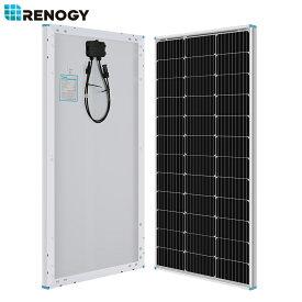 【10%OFFセール中】RENOGY ソーラーパネル 100W 単結晶 12V MC4延長ケーブル付属 高変換効率 太陽光パネル 新モデル
