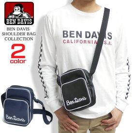 BEN DAVIS ショルダーバッグ 手書きロゴ プリント ベンデイビス バッグ メンズ ロゴプリント BENDAVIS ミニショルダーバッグ レディース ベンデービス 小物 ベンデビ フェイクレザーバッグ BEN-1197