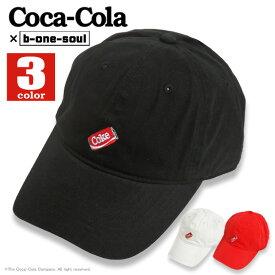 コカ・コーラ キャップ Coca-Cola ローキャップ b-one-soul コラボアイテム 帽子 Coke缶 イラスト刺繍 ワンポイント ビーワンソウル LOWCAP BONESOULファッション小物 商品番号 CAP-053