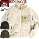 BEN DAVIS ボアジャケット ベンデイビス ジップアップ スタンドジャケット メンズ ボアブルゾン パイピング スタンドカラー ブルゾン ベンデービス 2019AW メンズファッション 秋冬アウ