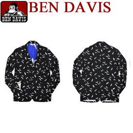 ben davis ジャケット ベンデイビス カモメ柄 ジャケット ベンデービスの3つボタンジャケットが登場。可愛いカモメ柄がプリントされたお洒落なテーラードジャケットです。目を惹くデザインのベンデイヴィスジャケットです。⇒BEN-323