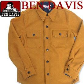 BEN DAVIS シャツジャケット ベンデイビス シャツジャケット ベンデービス 秋冬 アウター シャツタイプ メルトンアイテム 大人カジュアル BEN-208