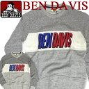 BEN DAVIS PROJECT LINE プロジェクトライン 長袖 トレーナー ベンデイビス スウェット ベンデービス フロントのアメカジ感溢れるブランドロ...