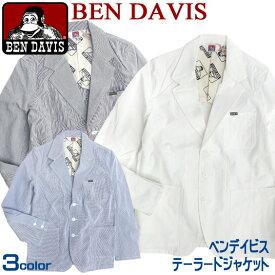 BEN DAVIS ジャケット ベンデイビス テーラードジャケット ★ ベンデービスのカッコいいシルエットのジャケットが登場。コットン素材を使用したのサマーコーデュロイのカジュアルなジャケット。ベンデイヴィスらしい1着 BEN-039