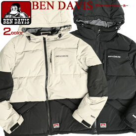BEN DAVIS ダウンジャケット ベンデイビス ブランドネーム刺繍 中綿 マウンテンパーカー ダウン メンズ ベンデイヴィス ゴリラタグ 中綿ジャケット フード付き 秋冬 防寒 メンズアウター 無地 カジュアル アウトドア BEN-1465