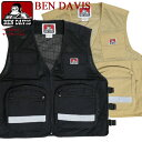 BEN DAVIS ベスト ベンデイビス セーフティベスト メンズ SAFETY VEST ベンデイヴィス アウトドアベスト ジップアップ…