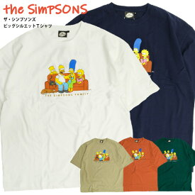ザ・シンプソンズ Tシャツ The Simpsons プリント ビッグシルエット 半袖Tシャツ メンズ シンプソンズ バート シンプソン 刺繍 ビッグTシャツ クルーネック ビッグT アメコミ アニメ キャラクターTシャツ ユニセックス アメカジ TSS-465