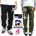 b-one-soul スエットパンツ DUCK DUDE スウェットパンツ ★ ダックデュード 裏起毛素材。お馴染みのスケーターアヒルのイラストプリントがカッコイイ。ストリート系のファッションやゆるカ