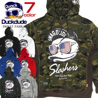 b-one-soul Parker DUCK DUDE long sleeve Hoodie ★ duckdurd fashionable banchou duck print new series. USA duck designs. Long-sleeved pullover Parker. 5 color appeared in the deployment. Food looks great printed points. ⇒ PKL-094