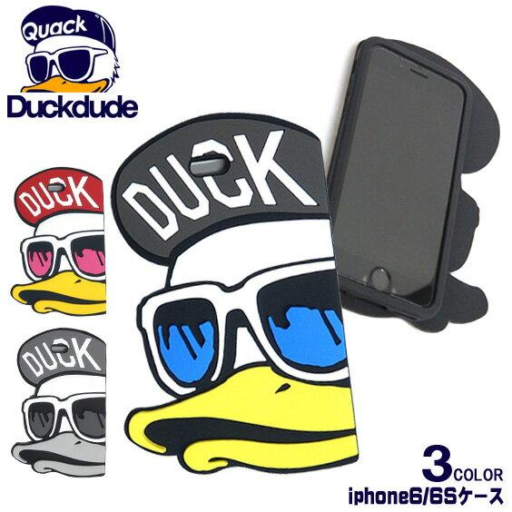 DUCK DUDE ダックデュード シリコン i-phone6/6S ケース★ お馴染みのアヒルの立体的なビッグフェイスが個性的でかっこいい インパクト抜群のオシャレなアイフォンケースが3色展開で登場。i-Phone6,6S専用ケース ⇒ACCE-015