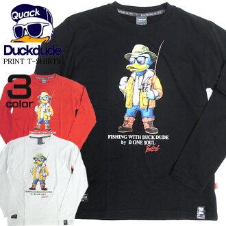 復印件b-one-soul T襯衫DUCK DUDE★户外男子T恤樣式的鴨子T恤進貨了。在街道是話題騷然的漂亮壞學生頭鴨子。復印件在女士,也可以使用的ダックデュード的新作品T恤。⇒TSL-018