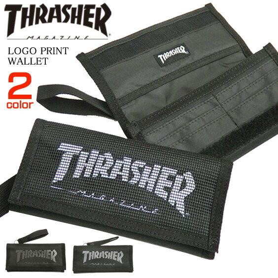 THRASHER 財布 スラッシャー 長財布 メンズ ロングウォレット thrasher ロゴ スラッシャーマガジン 小物 スケーターアイテム 商品番号 THRASHER-THRSG112