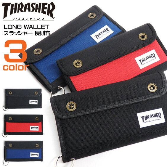THRASHER 長財布 スラッシャー 財布 メンズ サイフ THRASHER MAGAZINE 小物 スラッシャーマガジン ロングウォレット メンズ 財布 レディース THRASHER-1025