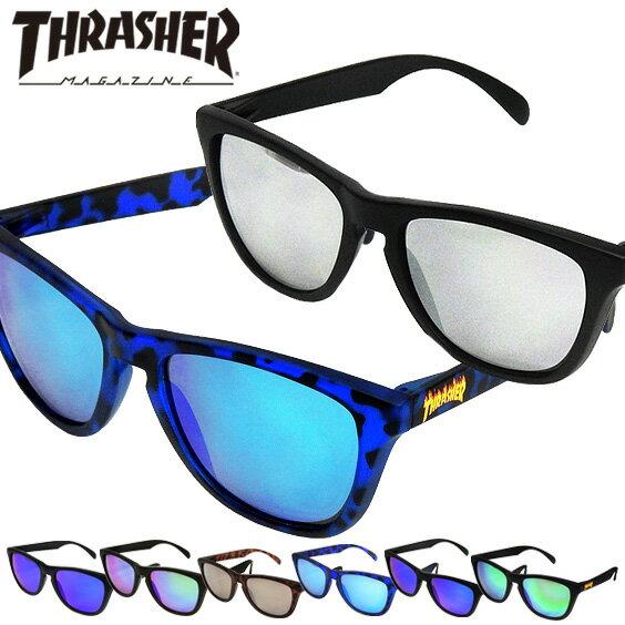 THRASHER サングラス スラッシャー カラーレンズメガネ ロゴマーク PLANET ファッショングラス PLANET FLAME お洒落眼鏡 スラッシャーマガジン 紫外線対策 ファッション小物 商品番号 THRASHER-1028