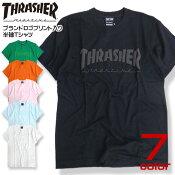 THRASHERTシャツスラッシャー半袖Tシャツ