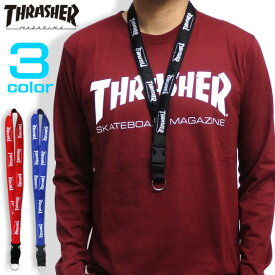 THRASHER ネックストラップ 総柄ロゴ ネックピース スラッシャー ストリート系 スケーターブランド スラッシャーマガジン ストラップ 小物 メンズ アクセサリー レディース 商品番号 THRASHER-THRNP101