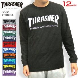 THRASHER Tシャツ ロゴ 長袖Tシャツ スラッシャー ロンT メンズ THRASHER MAGAZINE 長袖 クルーネック トップス ロゴプリント スラッシャーマガジン スケーターファッション メンズトップス ストリート系 THRASHER-004