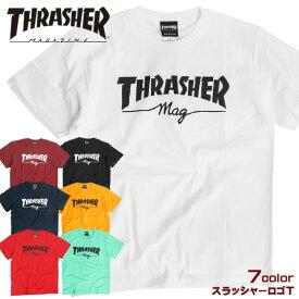 THRASHER Tシャツ マグロゴ 半袖Tシャツ スラッシャー メンズ ロゴプリント クルーネック トップス thrashermagazine スケーターファッション スラッシャーマガジン ストリートコーデ THRASHER-099