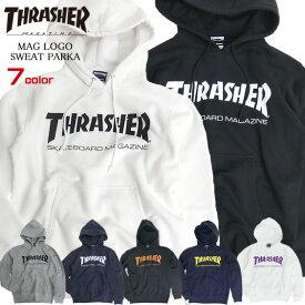 THRASHER パーカー スラッシャー マグロゴ スウェットパーカー ロゴプリント プルオーバー メンズ THRASHER MAGAZINE MAGLOGO プルパーカー 裏起毛 スエット スラッシャーマガジン トップス THRASHER-001