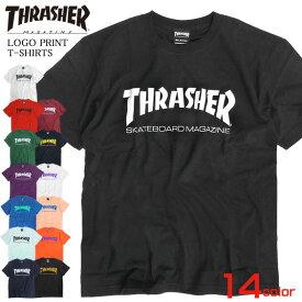 THRASHER Tシャツ ロゴプリント 半袖Tシャツ メンズ スラッシャー ロゴ プリント クルーネック トップス ストリート系 スラッシャーマガジン スケーターブランド thrasher magazine スケーターファッション THRASHER-016