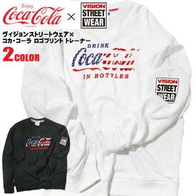 コカ・コーラ VISION コラボ スウェット メンズ Coca-Cola ロゴプリント ヴィジョンストリートウェア クルーネック メンズトレーナー visionstreetwear コラボアイテム 商品番号 VISION-120