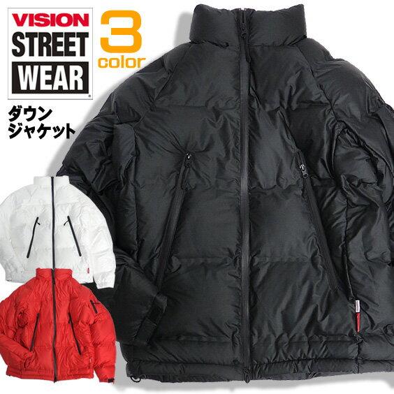 VISION ジャケット シームレス加工 中綿ジャケット メンズ ヴィジョン ダウンジャケット シリコンワッペン ビジョンストリートウェア アウター 撥水加工 スケーターファッション VISION STREET WEAR ストリート VISION-082