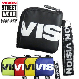 VISION コインケース ロゴプリント 小銭入れ ビジョンストリートウェア 財布 ヴィジョン サイフ ターポリン VISIONSTREETWEAR 小物アイテム ストリートファッション 雑貨 VISION-VSTP103