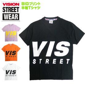 VISION Tシャツ ビッグロゴ 半袖Tシャツ ヴィジョン ロゴ プリント クルーネックTシャツ トップス 半袖 ビジョン BIGロゴ VISION STREET WEAR ストリート系ファッション カジュアルコーデ VISION-149