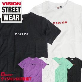 VISION Tシャツ 立体 刺繍 半袖Tシャツ メンズ ヴィジョンストリートウェア ロゴ刺繍 クルーネック 半袖 トップス VISION STREET WEAR メンズファッション ビジョンストリートウェア ストリート系 カジュアル VISION-151