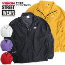 VISION ジャケット シワ加工 ナイロンブルゾン メンズ ヴィジョン ブランドロゴ ビジョンストリートウェア アウター …