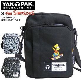 YAKPAK ショルダーバッグ ザ・シンプソンズ バーティカルショルダーバッグ コラボアイテム 撥水加工 The Simpsons バッグ ショルダー紐付き バート・シンプソン プリント ショルダーポーチ シンプソン カバン 総柄 YAKPAK-9325307