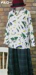【メール便対応】「メルロー☆」〜メルヘンな世界旅行〜長袖プルオーバーブラウスシャツ〜(ホワイト)(春秋)【レディース】【merlot】【女性服】【白】【PO】
