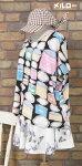 【メール便対応】『メルロー☆』☆缶詰の総柄☆〜半袖ロングTシャツ(黒地にマルチカラー)(春夏)【レディース】【ワイド幅】【ユニーク】【女性服】【トップス】【merlot】【カンカン】