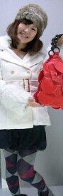 【W】着るだけで即トレンド☆★=襟と袖のファーがあったか♪(取り外し可)〜グラマラスミディアムコート(スノーホワイト) (秋冬向け) レディース トップス アウター 女性 【厚手】【白】