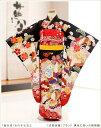 七五三 レンタル 7歳 女の子 j7184 「式部浪漫」ブランド 黒地に祝いの飛翔鶴 〔フルセット〕〔七五三 着物レンタル…