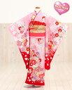 七五三レンタル 和がままブランド×「Miyu Style」 ピンクに花の四季彩 j7050【7歳女児/女の子七五三】《レンタル七…