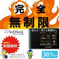 WiFiレンタル無制限ソフトバンクレンタル303ZT商品画像