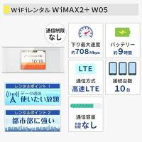 WiFiレンタルwimaxワイマックスW05端末詳細
