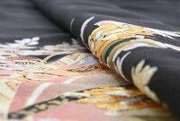 【黒留袖レンタル】mito_373MR-2901かずら帯花金刺繍正絹フルセット黒留袖結婚式貸衣装お呼ばれ黒 和装服装親族レンタル着物小さいサイズ母親黒留め袖着物セット柄着付けセット小物セット帯締め草履バッグセット【往復送料無料】