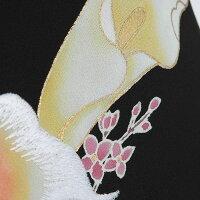 【留袖レンタル】mito_434宮崎玄祥カラーの調べ女性正絹黒留袖結婚式貸衣装 フルセット服装親族レンタル着物母親フルレンタル黒留め袖着物セット柄着付けセット小物セット帯締め草履バッグセット婚礼★新品足袋プレゼント★【往復送料無料
