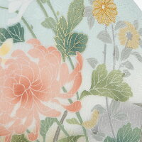 訪問着菊風草花の調べブルー