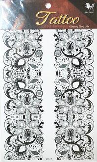 """""""Tattoo seal NO 354"""" cute stylish gold & シルバーメタルフラッシュファッションシャイニチェーンメタリックボディーシールパーティーイベントボディーシール TATTOO"""