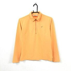 NIKE ナイキゴルフ 長袖シャツ オレンジ ハーフジップ 無地 シンプル レディース M ゴルフウェア