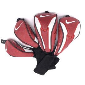 【超美品】NIKE ナイキ ヘッドカバー4点セット(FW×2、UT×2) レッド VRSCOVERT 番手プレート付き メンズ ゴルフウェア
