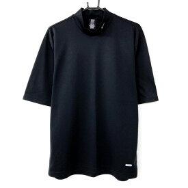 【超美品】NIKE ナイキ 半袖ハイネックシャツ 黒 DRI-FIT シンプル 無地 メンズ L ゴルフウェア