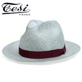 Tesiテシシゾールつば広中折れストローハットグレー[帽子メンズレディース春夏hat大きいサイズ小さいサイズ長いつば送料無料イタリア製T1601]