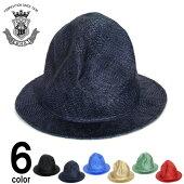 マウンテンハットメンズ帽子EDHATエドハット天然草ビックシルエットストローハットブラックネイビーブルーグリーンベージュレッド春夏大きいサイズ小さいサイズ