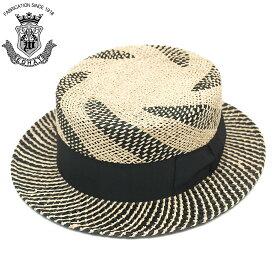 カンカン帽 メンズ 紳士 夏 ストローハット 大きいサイズ EDHAT エドハット ストローハット ナチュラル ブラック 黒 サイズ調節 帽子 春夏 ボーターハット 日本製