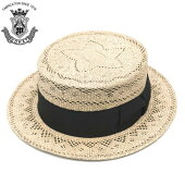 カンカン帽メンズ夏ストローハット大きいサイズEDHATエドハットストローハットベージュ×ブラウン日本製送料無料ed_6658